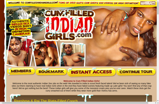 cum filled indians