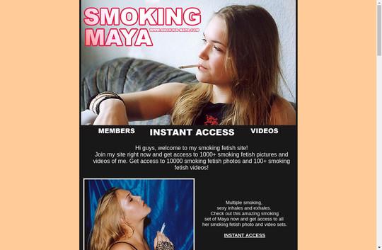 smoking -maya