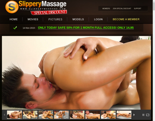 slippery massage - special discount